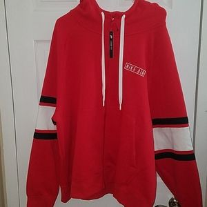 NWT Nike Air Red Full Zip Hoodie - Loose Fit